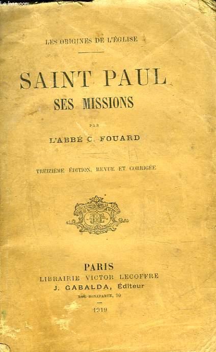 SAINT PAUL SES MISSIONS