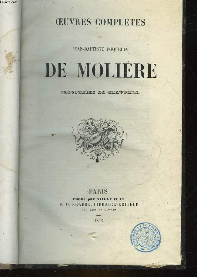 OEUVRES COMPLETES DE JEAN-BAPTISTE POQUELIN DE MOLIEREP. H. KRABBE
