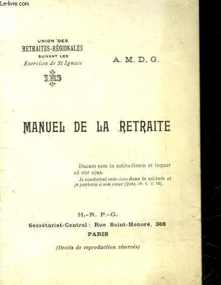 MANUEL DE LA RETRAITE