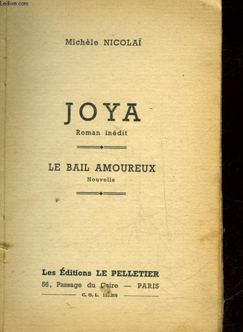 JOYA - LE BAIL AMOUREUX