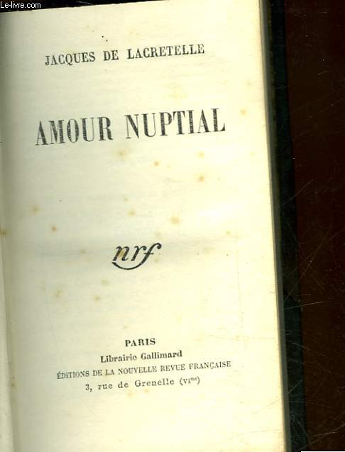 AMOUR NUPTIAL
