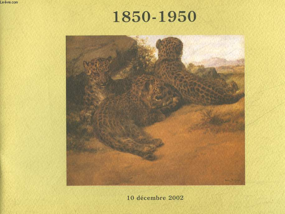 1 CATALOGUE DE VENTE AUX ENCHERES - 1850-1950