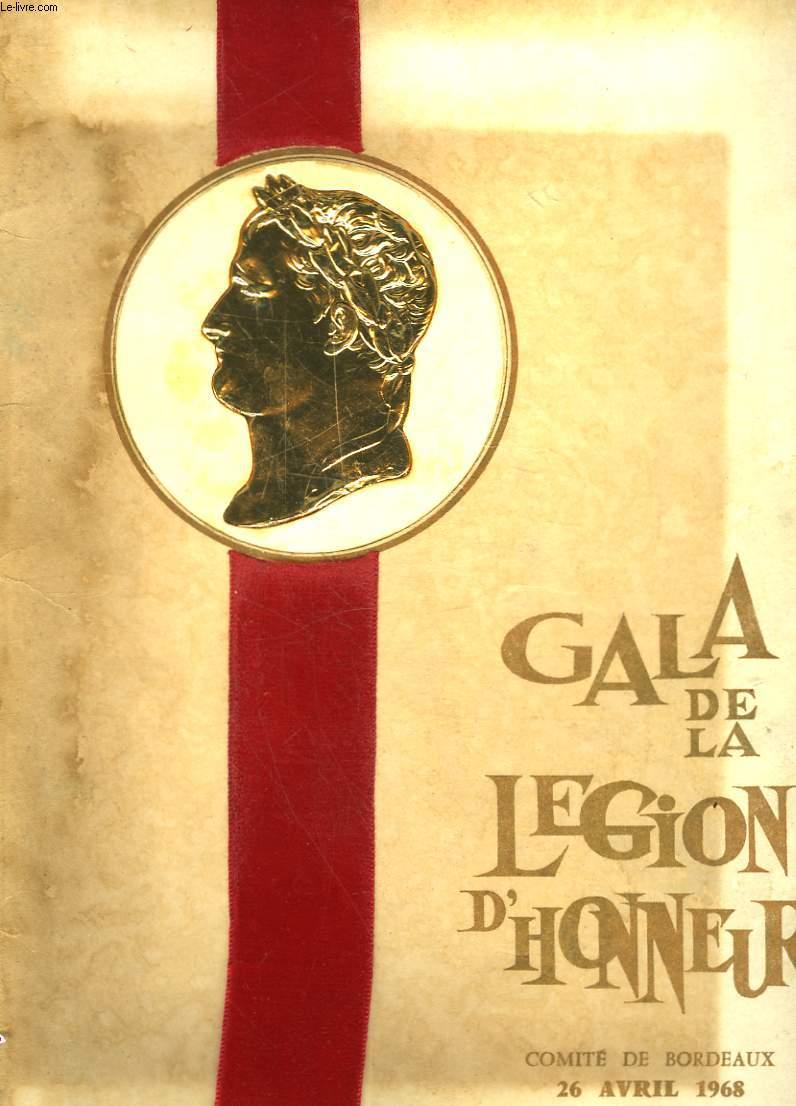1 PROGRAMME - GALA DE LA LEGION D'HONNEUR