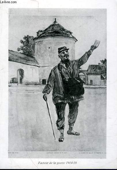 1 CARTE - COLLECTION MUSEE DE LA POSTE - FACTEUR DE LA GUERRE 1914-18
