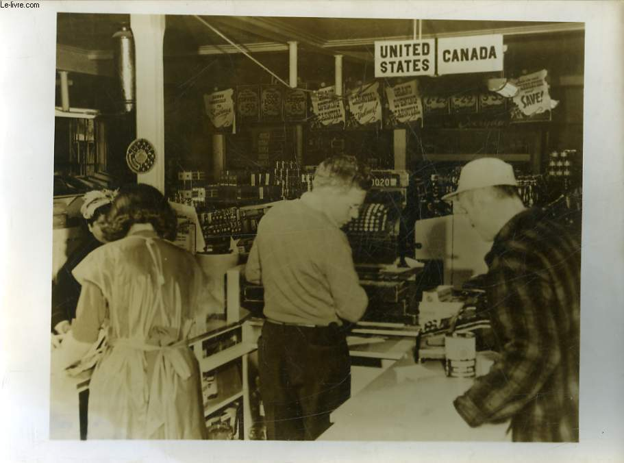 1 PHOTO ANCIENNE SITUEE - EPICERIE AMERICAINE