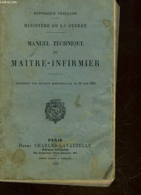 MANUEL TECHNIQUE DU MAITRE-INFIRMIER