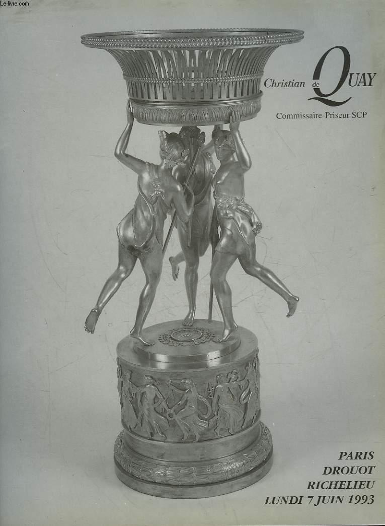 1 CATALOGUE DE VENTE AUX ENCHERES - MONSIEUR EST SERVI - OBJETS DE GASTRONOMIE, ASSIETTES