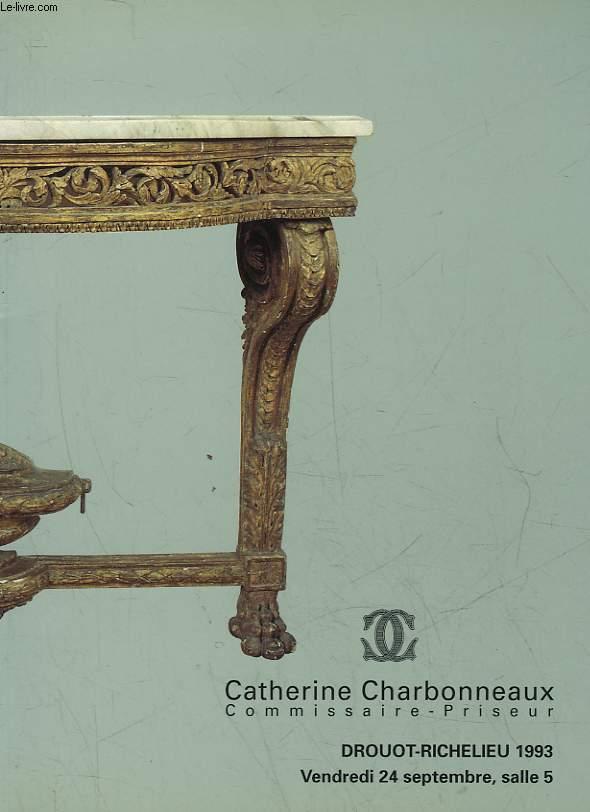 1 CATALOGUE DE VENTE AUX ENCHERES - TABLEAUX ANCIENS - BRONZES - OBJETS D'ART ET D'AMEUBLEMENT - TAPISSERIE D'AUBUSSON