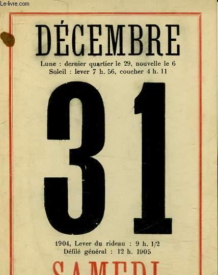 1 PROGRAMME POUR LE REVEILLON DE L'AN 1904