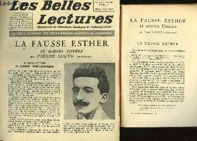 LA FAUSSE ESTER - LES BELLES LECTURES - 4° ANNEE - N°137