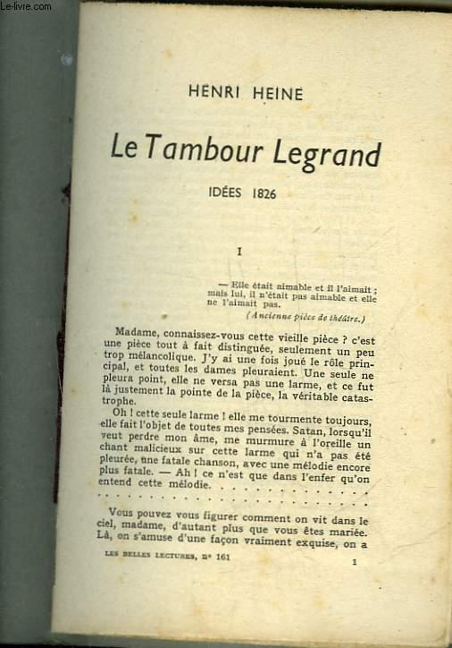 LE TAMBOUR LEGRAND IDEES 1826