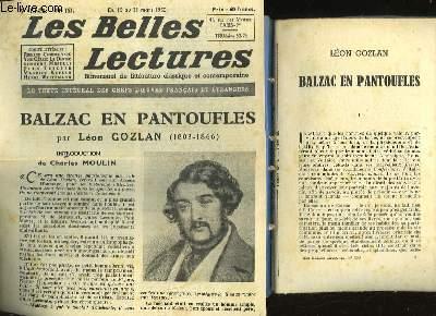 BALZAC EN PANTOUFLE - LES BELLES LECTURES - 5° ANNEE - N°153