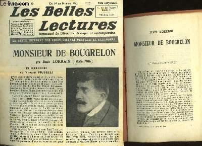 MONSIEUR DE BOUGRELON - LES BELLES LECTURES - 5° ANNEE - N°152
