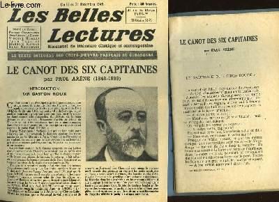 LES CANOT DES SIX CAPITAINES - LES BELLES LECTURES - 4° ANNEE - N°147
