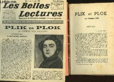 PLIK ET PLOK - LES BELLES LECTURES - 4° ANNEE - N°138