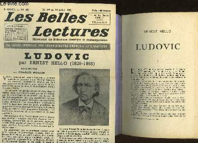 LUDOVIC - LES BELLES LECTURES - 5° ANNEE - N°160
