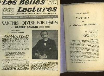 XANTHIS OU LA VITRINE SENTIMENTALE - LES BELLES LECTURES - 5° ANNEE - N°159