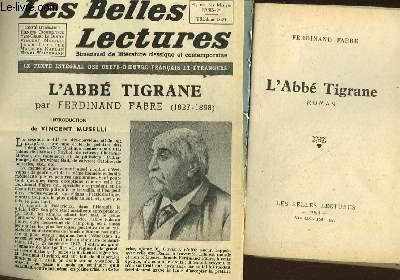 L'ABBE TIGRANE - LES BELLES LECTURES - 5° ANNEE - N°155