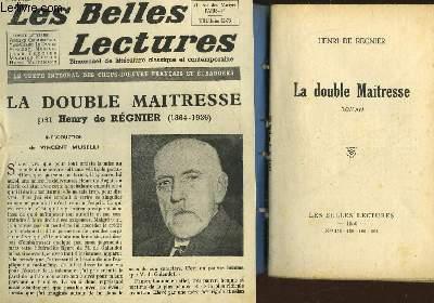 LA DOUBLE MAITRESSE - LES BELLES LECTURES - 5° ANNEE - N°158