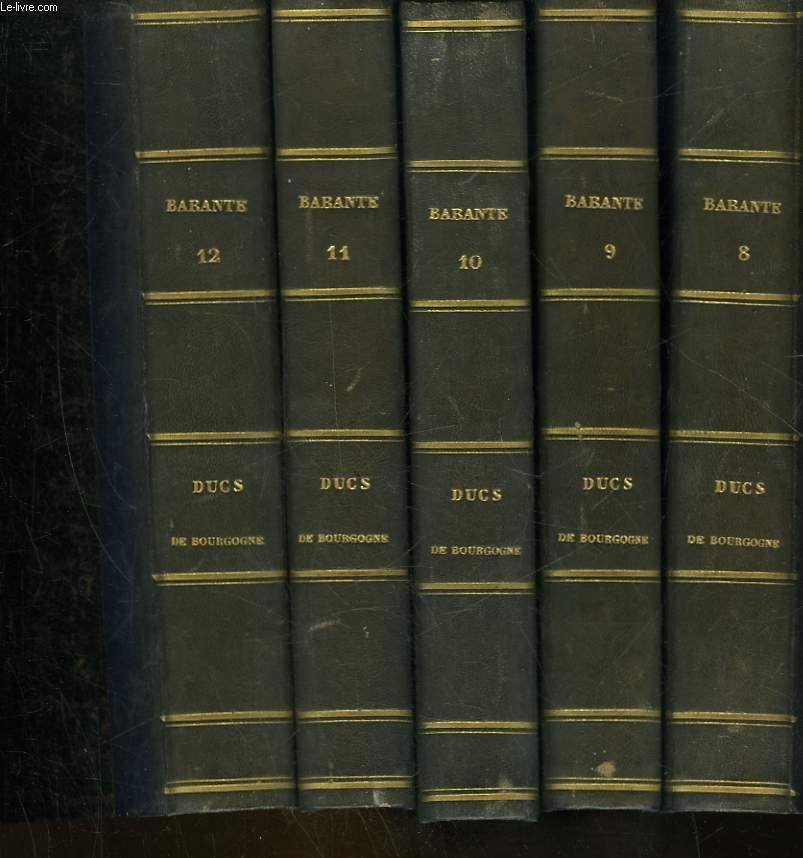 HISTOIRE DES DUCS DE BOURGOGNE DE LA MAISON DE VALOIS - 12 TOMES