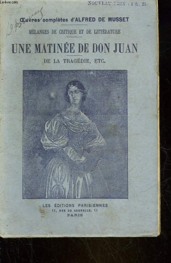 UNE MATINEE DE BON JUAN - FRAGMENT