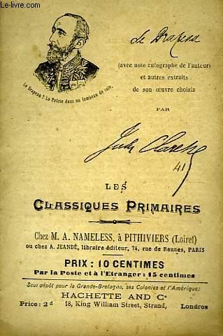 LES CLASSIQUES PRIMAIRES - EXTRAITS - LE DRAPEAU - LES LENTILLES UNIVERSITAIRES - MONSIEUR LE MINISTRE