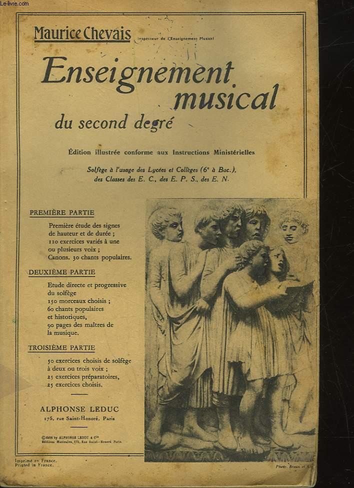ENSEIGNEMENT MUSICAL DU SECOND DEGRE
