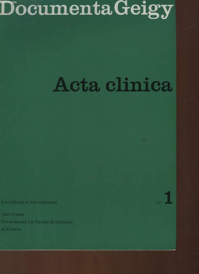DOCUMENTA GEIGY - ACTA CLINICA 1 - LES OEDEMES ET LEUR TRAITEMENT