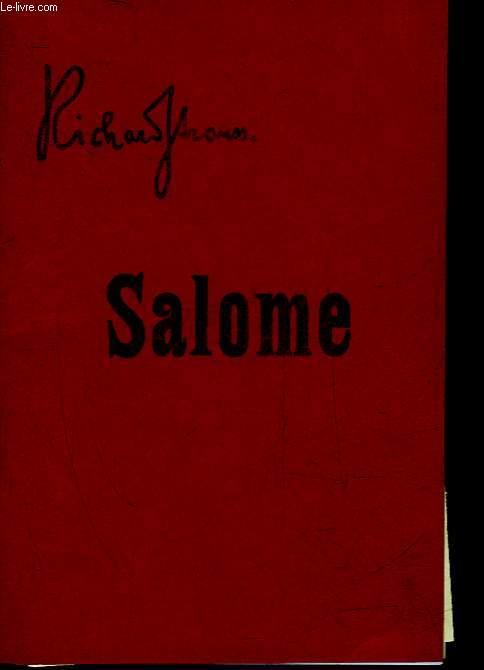 SALOME - DRAMA IN EINEM AUFZUGE