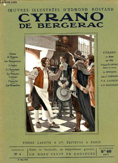 OEUVRES ILLUSTREES D'EDMOND ROSTAND - FASCICULE N° 4 - CYRANO DE BERGERAC