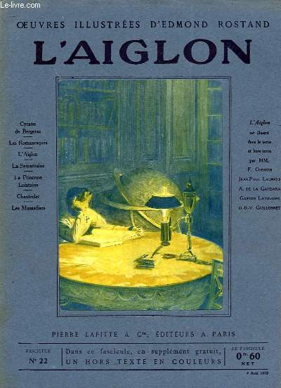 OEUVRES ILLUSTREES D'EDMOND ROSTAND - FASCICULE N° 22 - L'AIGLON