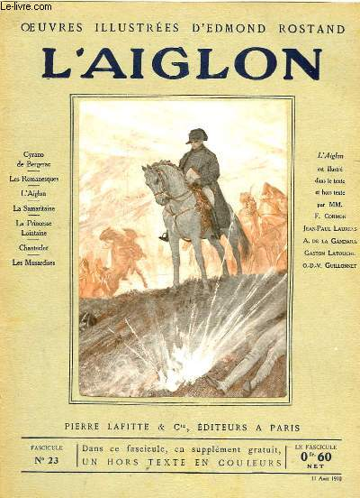 OEUVRES ILLUSTREES D'EDMOND ROSTAND - FASCICULE N° 23 - L'AIGLON