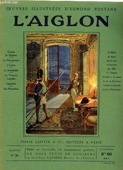 OEUVRES ILLUSTREES D'EDMOND ROSTAND - FASCICULE N° 26 - L'AIGLON