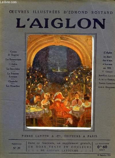 OEUVRES ILLUSTREES D'EDMOND ROSTAND - FASCICULE N° 29 - L'AIGLON