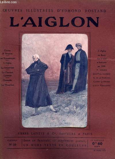 OEUVRES ILLUSTREES D'EDMOND ROSTAND - FASCICULE N° 33 - L'AIGLON