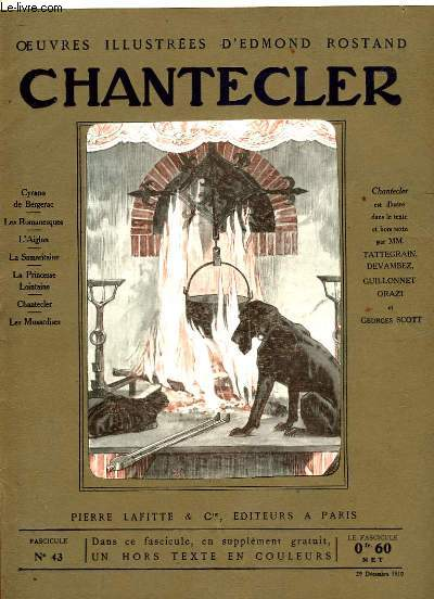 OEUVRES ILLUSTREES D'EDMOND ROSTAND - FASCICULE N° 43 - CHANTECLER