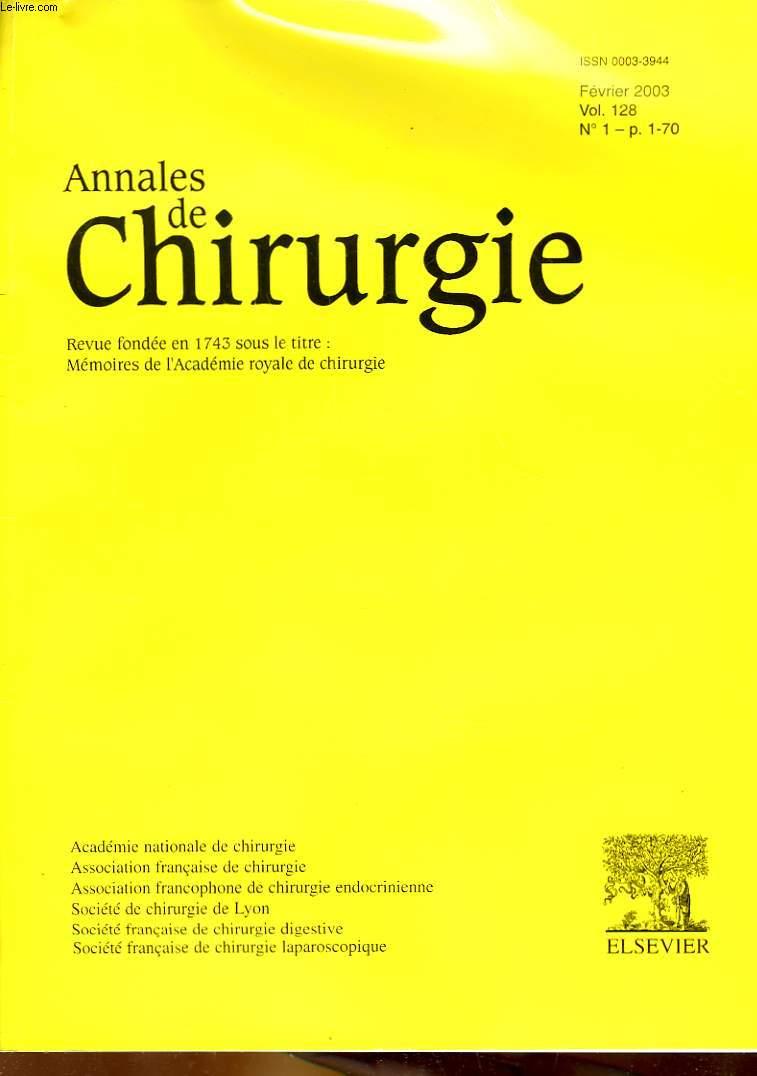 Annales De Chirurgie 2002 - 2006 RO30078883