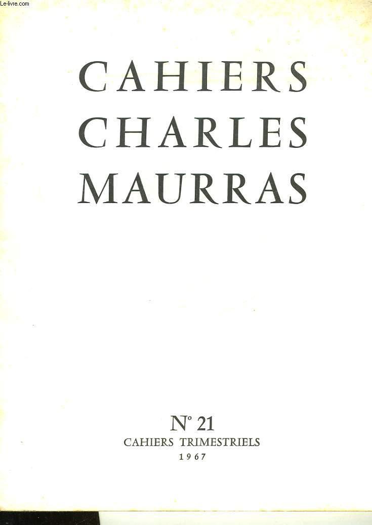 CAHIRS CHARLES MAURRAS N°21