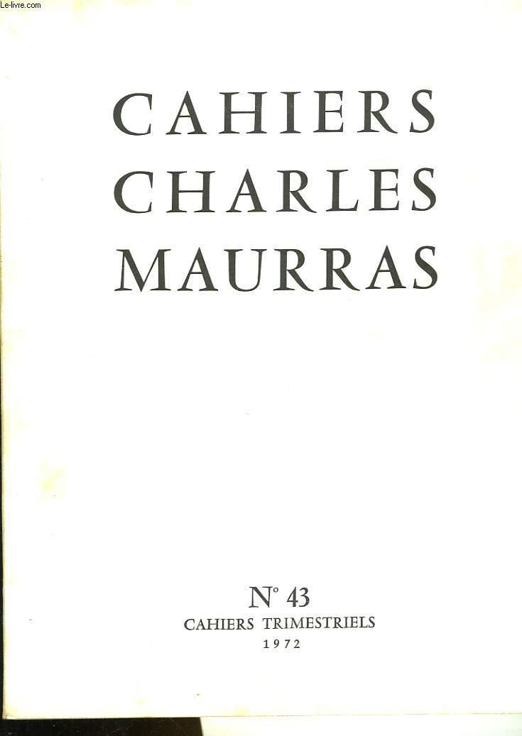 CAHIRS CHARLES MAURRAS N°43