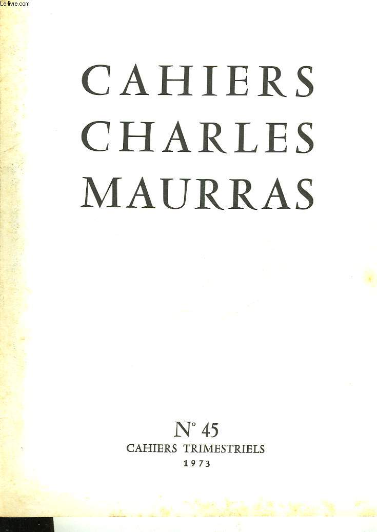 CAHIRS CHARLES MAURRAS N°45