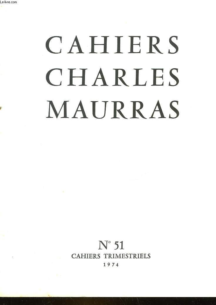 CAHIRS CHARLES MAURRAS N°51