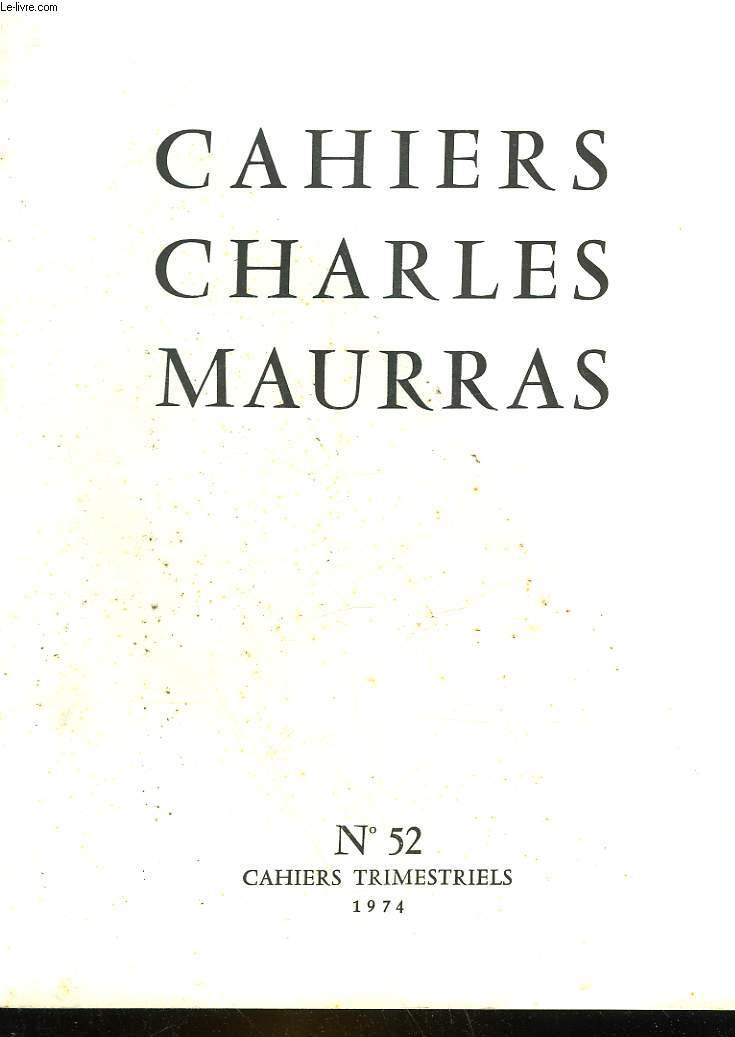 CAHIRS CHARLES MAURRAS N°52