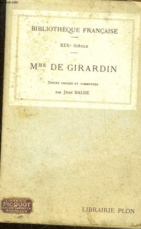 19° SIECLE - MME DE GIRARDIN