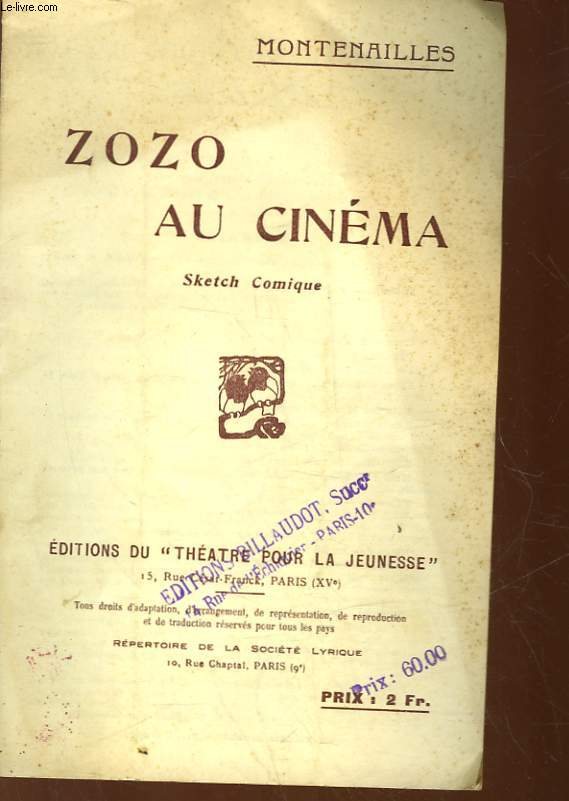 1 PROGRAMME - ZOO AU CINEMA - SKETCH COMIQUE