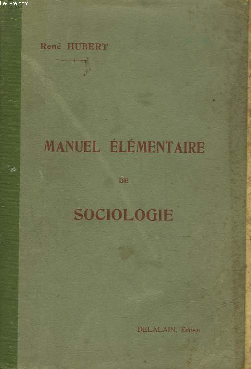 MANUEL ELEMENTAIRE DE SOCIOLOGIE