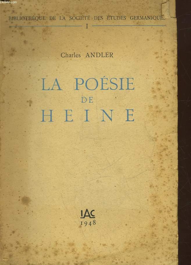 LA POESIE DE HEINE