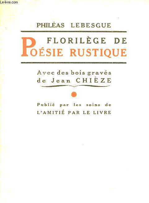 FLORILEGE DE POESIE RUSTIQUE
