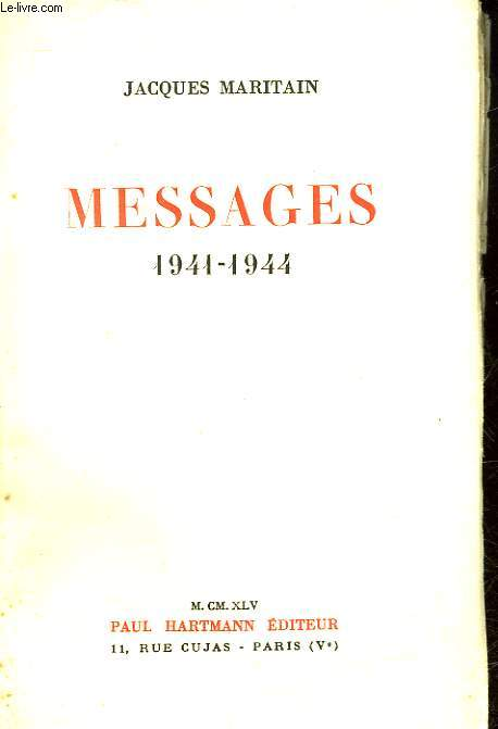 MESSAGES 1941 - 1944