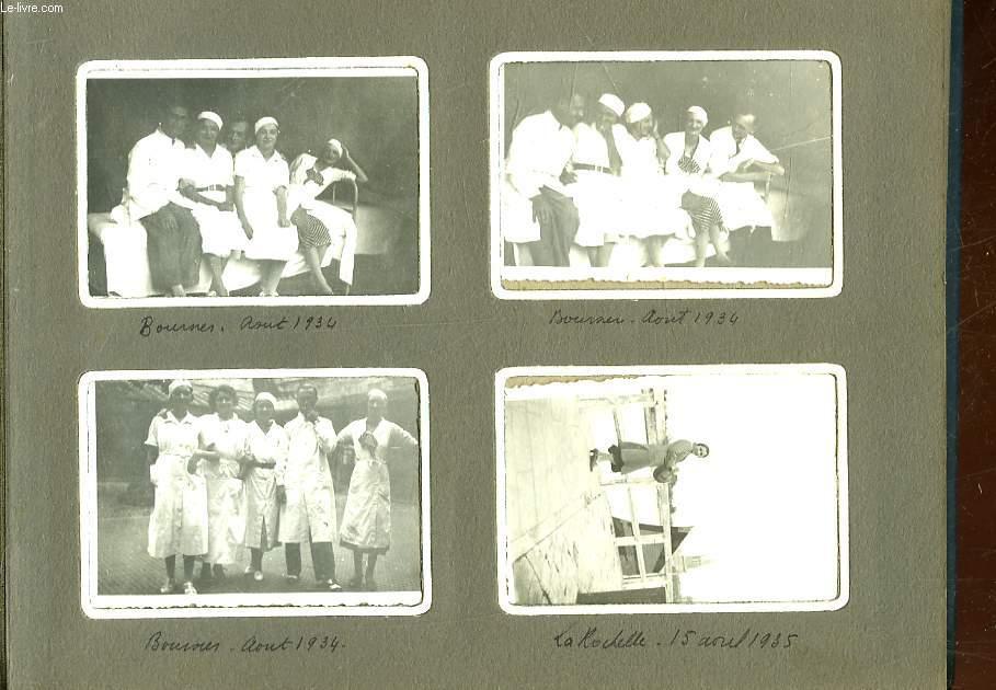 1 ALBUM DE 92 PHOTOS EN NOIR ET BLANC D'UNE FAMILLE EN VACANCES
