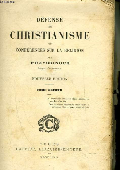 DEFENSE DU CHRISTIANISME OU CONFERENCES SUR LA RELIGION - TOME 2